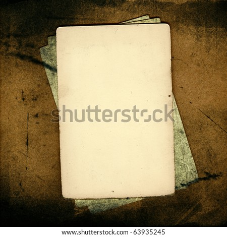 Grunge papers over brown background great for scrapbook - stock photo