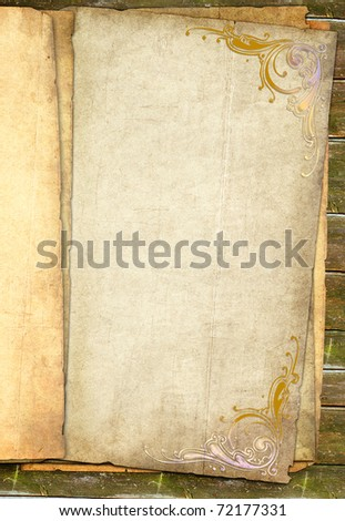 grunge papers stack with blank place - stock photo