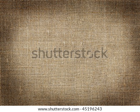Grunge pattern with dark vignette framing made of hessian XXL