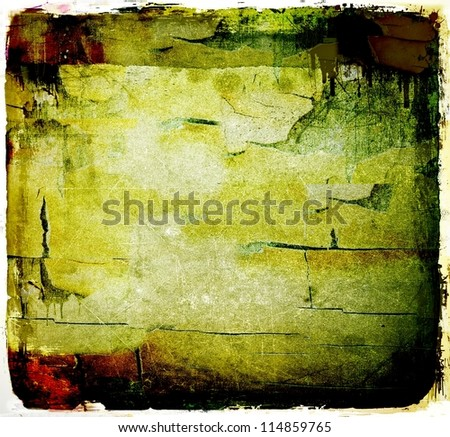 Grunge peeled abstract background - stock photo