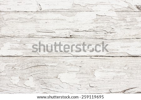 Grunge peeling white paint wood texture. - stock photo