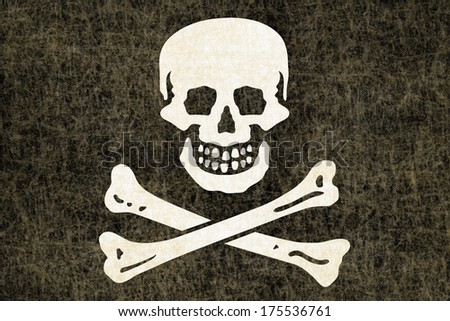 Grunge Pirate Flag - stock photo