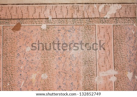 Grunge plaster and concrete texture in empty interior - stock photo