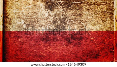 Grunge Poland Flag as background or texture - stock photo