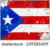 Grunge Puerto Rico flag with stains - flag series - stock photo