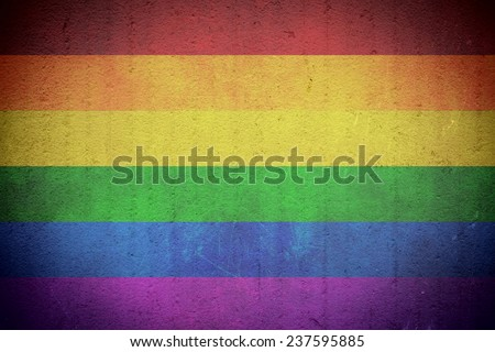 Grunge Rainbow Flag Background / Gay Pride Symbol - stock photo
