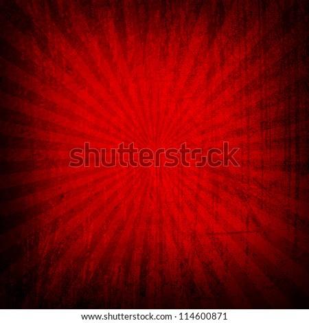 grunge rays background - stock photo