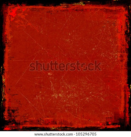 Grunge red background - stock photo
