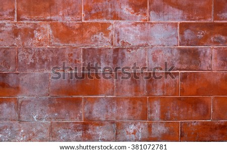 Grunge red brick wall background