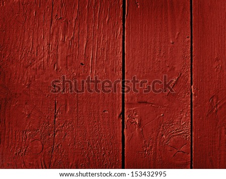 Grunge red painted wooden textured background - stock photo