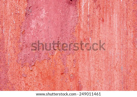 Grunge red wall - stock photo