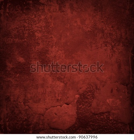Grunge red wall texture - stock photo