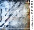 grunge retro abstraction - stock photo