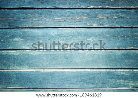 grunge retro blue vintage wooden texture - stock photo