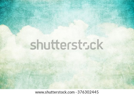 grunge retro sky and cloud abstract background - stock photo