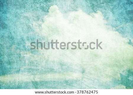 grunge retro sky and cloud abstract backgroung - stock photo
