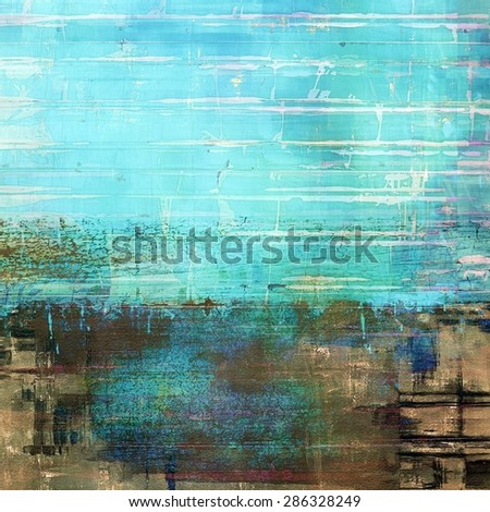 Grunge retro texture, elegant old-style background. With different color patterns: yellow (beige); brown; blue; cyan - stock photo