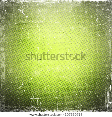 grunge retro vintage paper texture, abstract green background - stock photo