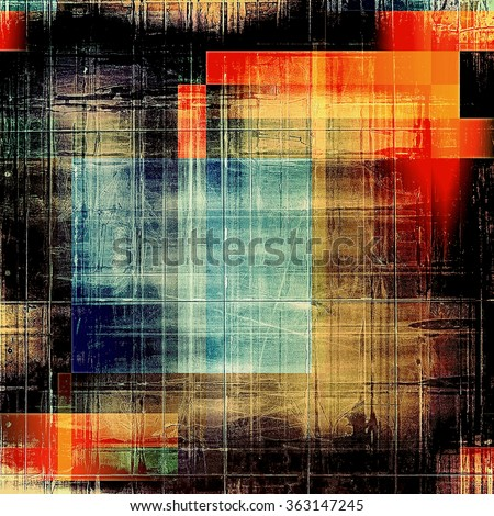 Grunge retro vintage texture, old background. With different color patterns: yellow (beige); brown; black; red (orange); blue - stock photo