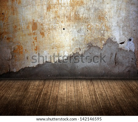 grunge room - stock photo