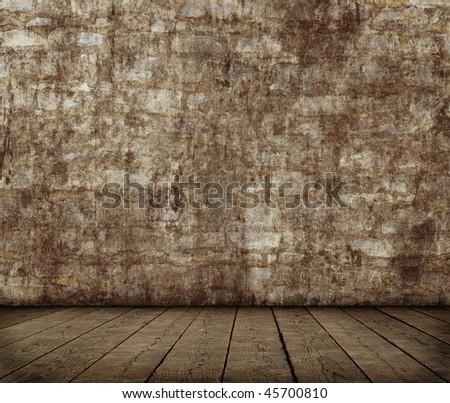 Grunge room interior - stock photo