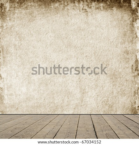 Grunge room interior. - stock photo