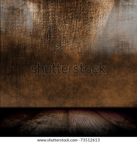 Grunge Room Interior - stock photo
