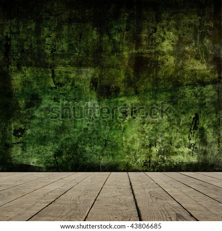 Grunge room interior. More available in my portfolio. - stock photo