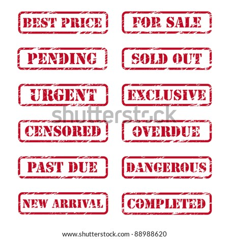 Grunge rubber stamps. Vector available. - stock photo