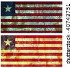grunge rusted flag of liberia - stock photo