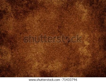 grunge rustic cooper texture - stock photo