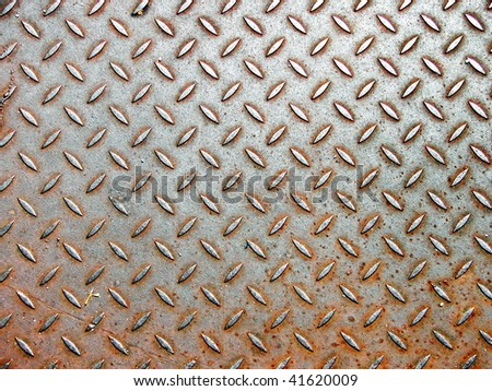Grunge & Rusty Metal texture, as background - stock photo