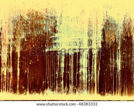 Grunge rusty painted metal - stock photo