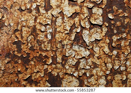 Grunge rusty weathered painted iron metal texture background - stock photo