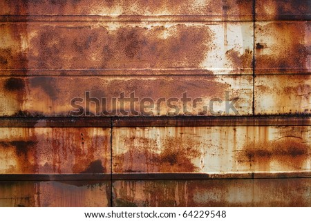 grunge rusty wet metall background - stock photo
