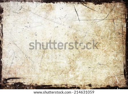 Grunge scratched frame - stock photo