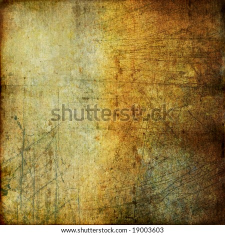 grunge scratched wall texture - stock photo