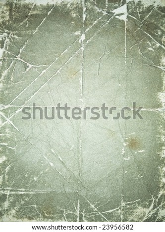 Grunge shabby folded texture with light spot in center - stock photo