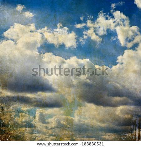 Grunge sky background - stock photo