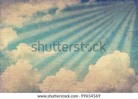 Grunge sky image - stock photo