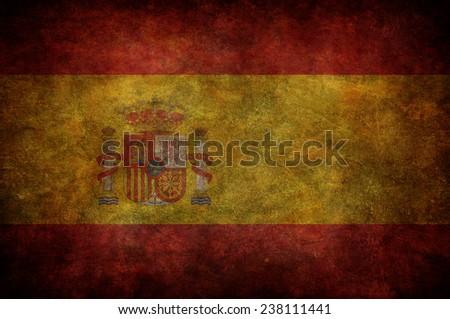 grunge Spain flag - stock photo