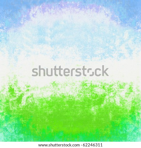 Grunge Spring Summer Scene Abstract Background - stock photo