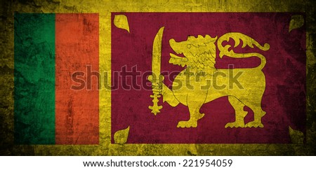 Grunge Sri Lanka Flag  - stock photo