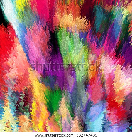 Grunge stained and striped wavy rainbow abstract background