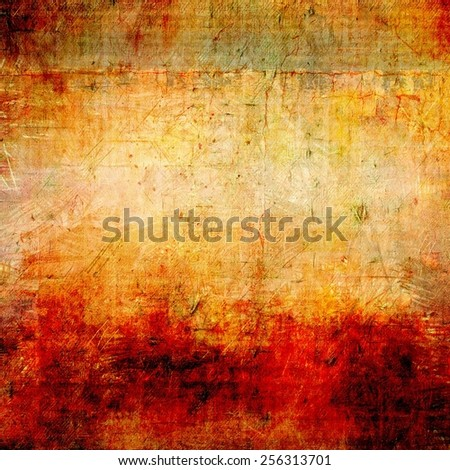 Grunge stained texture, distressed background with space for text or image. With different color patterns: yellow (beige); brown; red (orange); green - stock photo