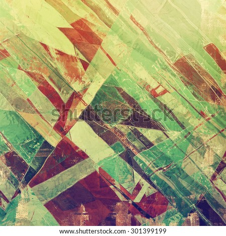 Grunge stained texture, distressed background with space for text or image. With different color patterns: brown; purple (violet); green; gray - stock photo
