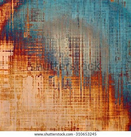 Grunge stained texture, distressed background with space for text or image. With different color patterns: yellow (beige); red (orange); blue; cyan - stock photo