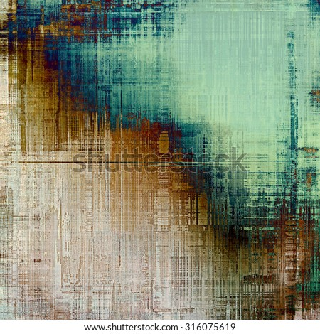 Grunge stained texture, distressed background with space for text or image. With different color patterns: brown; gray; blue; green - stock photo