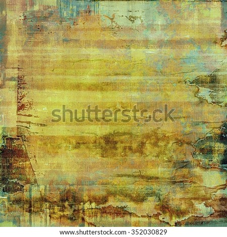 Grunge stained texture, distressed background with space for text or image. With different color patterns: yellow (beige); brown; blue; gray - stock photo