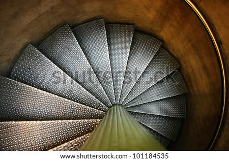 grunge staircase. - stock photo